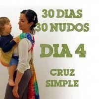 Día 4.- Cruz simple, tutorial con fotos #30dias30nudos [Monitos y Risas] Photo tutorial of a simple cross with a wrap -  Day 4 of 30 Days 30 Knots.