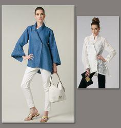 Lynn Mizono concepteur modèle Vogue V1246 jeune femme:, des femmes, de Teen Girl chemise à l'intérieur des attaches - nouvelles et non circoncis