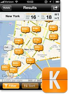 KAYAK - The Travel App That Will Change Your Life!    The Kayak app is well worth downloading too: Its sophisticated filters allow you to search by criteria such as preferred airports for layovers (Android, iPad, iPhone, Nokia, Windows Phone; free). Use these tools for research, not for booking. Find the itinerary you want, then wait till you're at a computer and book via the airline's Web site or an excellent travel agent (to avoid potential snags caused by online travel agencies).