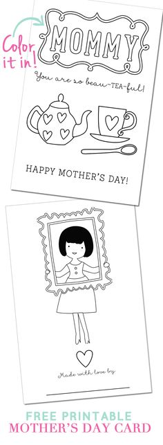 Ministy-to-Children Motheru0027s Day Coloring pages, crafts, and - mothers day card template