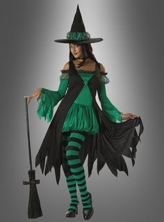 Emerald Kräuterhexe Kostüm