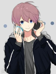 Anime Boy w/Headphones || Unknow