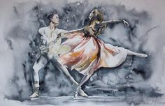 Nick C. Roberts @robertsnickc  ·  8h #Ballet. Lovely #watercolour #painting by Tatyana Ilieva.