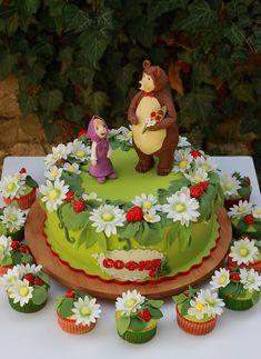 masha and the bear cake - Buscar con Google