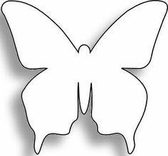 Dessins de papillons a imprimer gabarit pour la barrette bricolage pinterest papillon - Dessin papillon a decouper ...