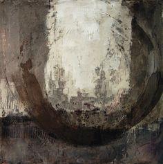 "Karen L Darling Receptive Oil, cold wax and mixed media. 36""x36"" #buyart #cuadrosmodernos #art"