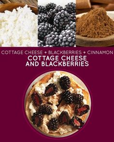 Cottage Cheese and Blackberries Sandwich -- try almond parmesan or almond butter + berries for this one