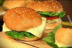 Hamburguesas de pescado Healthy Food, Healthy Recipes, Sandwiches, Chicken, Ethnic Recipes, Hamburgers, Cooking, Health Foods, Health Recipes