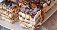 Torta di biscotti fredda alla nutella e crema di ricotta