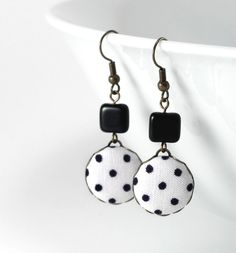 Dangle Earrings Love In The Afternoon by PatchworkMillJewelry