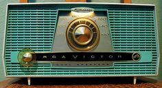"midcenturymodernfreak: "" - 1959 RCA Victor Dual Speaker Filteramic Tube Radio - Pink General Electric AM Clock Radio - Red Admiral Model AM Radio - Olive Green Panasonic Solid State. Radio Record Player, Record Players, Radio Antique, Radio Design, Retro Radios, Nostalgia, Old Time Radio, Transistor Radio, Old Tv"