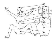 Reflexology points on Hand.