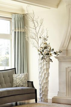 Vases, Your Space, Interior Decorating, Christmas Decorations, Curtains, Houseplants, Design, Home Decor, Floral Arrangements