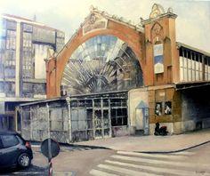 Original Architecture Painting by Tomas Castano Oil On Canvas, Canvas Art, Original Paintings, Original Art, Realism Art, Photorealism, Impressionism, Artwork Online, Buy Art