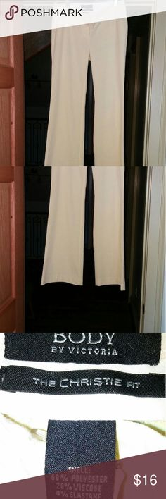 Body by Victoria yellow slacks Body by Victoria flared leg slacks. New and never worn. Front pockets only. Victoria's Secret Pants Trousers