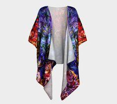 """Draped+Kimono+""""Bohemian+""""+by+Kimberly+Rae+Hansen+Digital+Artistry+~+Fractalicious®"""