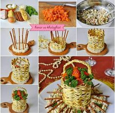 The bouquet of Roses Salad is very beautiful and creative. How can you make it with just some simple ingredients? Click below link for translated recipe…. Bouquet of Roses Salad Edible Crafts, Food Crafts, Diy Bouquet, Rose Bouquet, Amazing Food Decoration, Food Carving, Food Garnishes, Food Displays, Food Platters