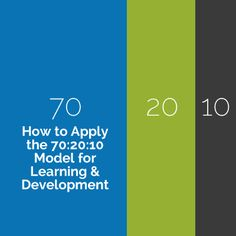 The 70:20:10 model for Learning & Development is a strategy to improve workplace performance. Get tips for implementing the 70:20:10 model successfully.