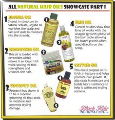 All Natural Hair Oils Showcase Part 1 http://www.blackhairinformation.com/our-newsletters/postcard-tips/all-natural-hair-oils-showcase-part-1-bhi-postcard-tips/