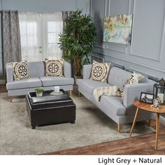 Nice Milton Mid Century Modern 2 Piece Fabric Sofa Set By Christopher Knight  Home | Overstock