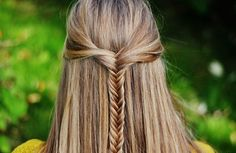 hair styles for long hair with layers Half up fishtail