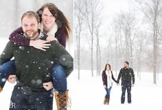 Snowy Winter Engagement Picture