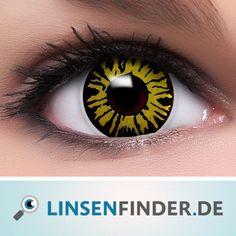 Farbige-Kontaktlinsen-gruen-Dschungel-Behaelter-gruene-Halloween-Linsen-Fun