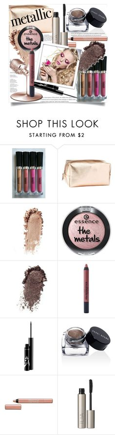 """""""Metallic Make Up"""" by clotheshawg ❤ liked on Polyvore featuring beauty, Charlotte Russe, Essie, Stargazer, Bobbi Brown Cosmetics, BeYu and Ilia"""