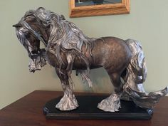 """Bullet"" a well-known Gypsy Vanner stallion, sculpted for his owner by Ingrid Smith Bryer Horses, Gypsy Horse, Painted Pony, Horse Drawings, Horse Stables, Horse Sculpture, Equine Art, Horse Photography, Horse Breeds"