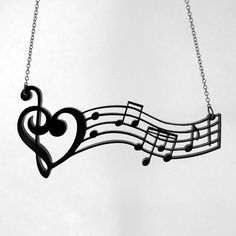 Music is the Medicine of the Breaking Heart Necklace  by CABfayre, $17.00