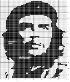 Free Cross Stitch Chart - Che Guevara