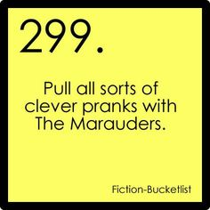 fictional-bucket list tumblr 1. | Harry Potter. Fictional bucket list