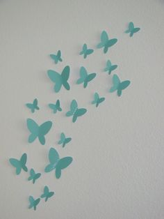 So pretty for a little girl's room...  Buy 2 Sets Get 1 Set FREE 3D Butterfly Wall Art by magicalwhimsy, $12.00