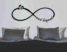Image of To Infinity and Beyond Symbol Wall Decal Sticker Family Art Graphic Famous Quotes
