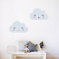 Dreaming Clouds Wall Decals, Cloud Nursery Decal, Sweet Clouds Wall Stickers, Cloud Nursery Decor, Baby Room Decoration, Cloud Wall Decor