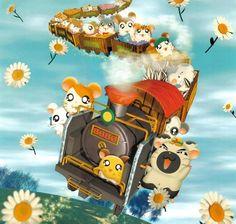 Hamtaro calendar art, The Ham-Ham Express Hamtaro, Hamster Live, All Poster, Poster Prints, Im Poppy, Tms Entertainment, Pikachu, Pokemon, Cute Hamsters