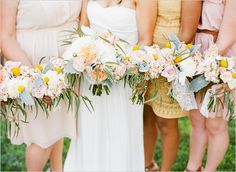 Tropical inspired flowers- perfect for a destination wedding!