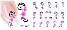 1 Pack Pretty Popular Hots New Nail Art Sticker Full-Color Flower Stick Decoration Pattern Code XF1446 * Be sure to check out this awesome product.
