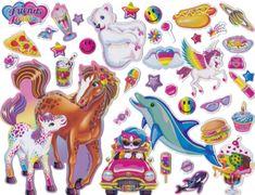 I loooooove Lisa Frank stickers! Presets Photoshop, Lisa Frank Stickers, Mabel Pines, Rainbow Aesthetic, Aesthetic Stickers, Cute Stickers, Retro, Kitsch, Childhood Memories