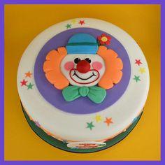 Clown 1st Birthday Cake. - Cake by Sandra Monger