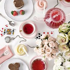 Just like the tea party in 'Alice's Wonderland' :)
