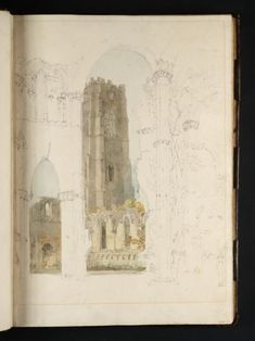 Artwork page for 'Fountains Abbey: Huby's Tower from the Chapel of the Nine Altars', Joseph Mallord William Turner, 1797