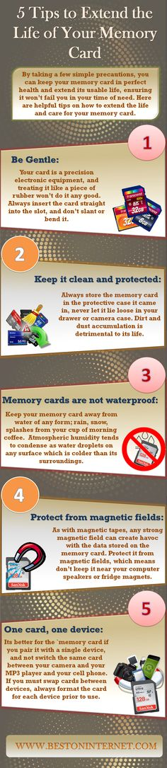 By taking a few simple precautions, you can keep your memory card in perfect health and extend its usable life, ensuring it won't fail you in your time of need. Here are helpful tips on how to extend the life and care for your #memorycard. http://www.bestoninternet.com/compute/memory-cards/micro-sd-cards-for-raspberry-pi/