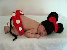 Ravelry: kbealer's Minnie Mouse Hat & Diaper Cover