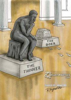 Le Penseur de Rodin vu par The New Yorker Rodin Museum, Art Jokes, Auguste Rodin, Just Dream, Arts Ed, Cultura Pop, Funny Cartoons, Cartoon Humor, Funny Art