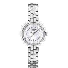 Tissot Flamingo Quartz Stainless Steel Mother-Of-Pearl Ladies Watch T094.210.11.111.00