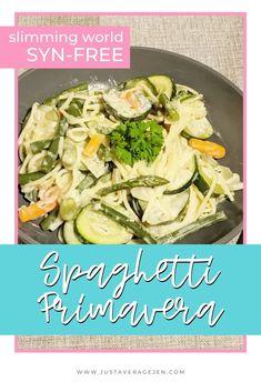 Slimming World Spaghetti Primavera - A tasty Syn free pasta recipe Slimming World Pasta Dishes, Slimming World Recipes, Pasta With Green Beans, Pasta Recipes, Dinner Recipes, Quark Cheese, Vegetable Pasta, Frozen Vegetables