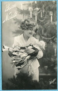 X5343 Real photo postcard of girl with fashion doll, Italian, Unused in Collectibles, Postcards, Artist Signed | eBay