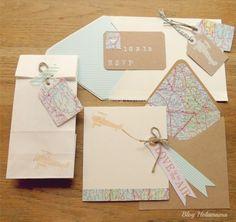 Wedding set by holamama, imprimir por dentro del sobre la direccion del pazo de adran