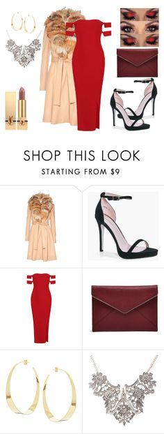"""RED"" by lia-fashion on Polyvore featuring Alice + Olivia, Boohoo, Rebecca Minkoff, Lana and Yves Saint Laurent"